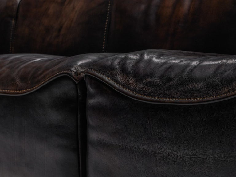 De Sede DS15 Sectional Sofa in Brown Leather For Sale 3