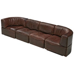 De Sede DS15 Sectional Sofa in Brown Leather