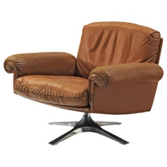 De Sede DS31 Swivel Chair in Brown Leather