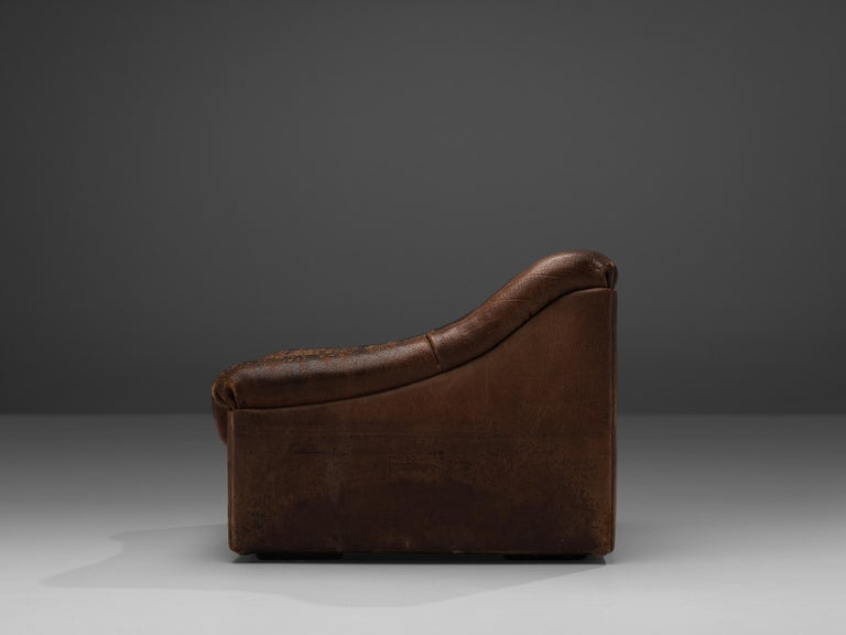 Late 20th Century De Sede DS46 Lounge Chair in Brown Leather For Sale