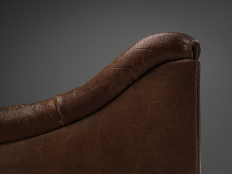 De Sede DS46 Lounge Chair in Brown Leather For Sale 3