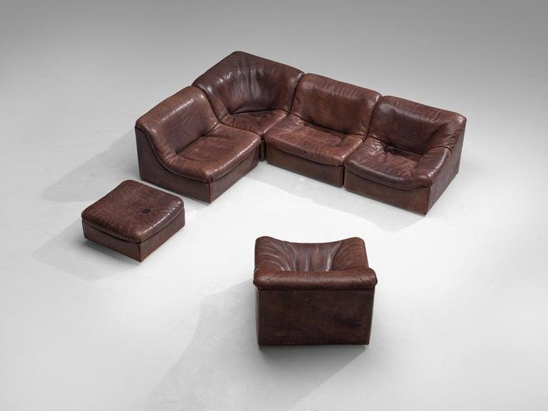 De Sede DS46 Modular Sofa in Brown Leather 4