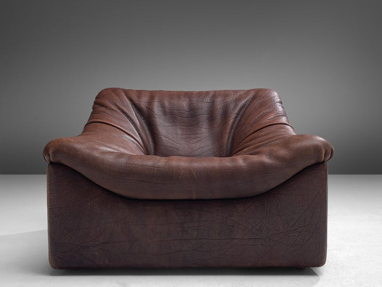 De Sede DS46 Modular Sofa in Brown Leather In Good Condition In Waalwijk, NL