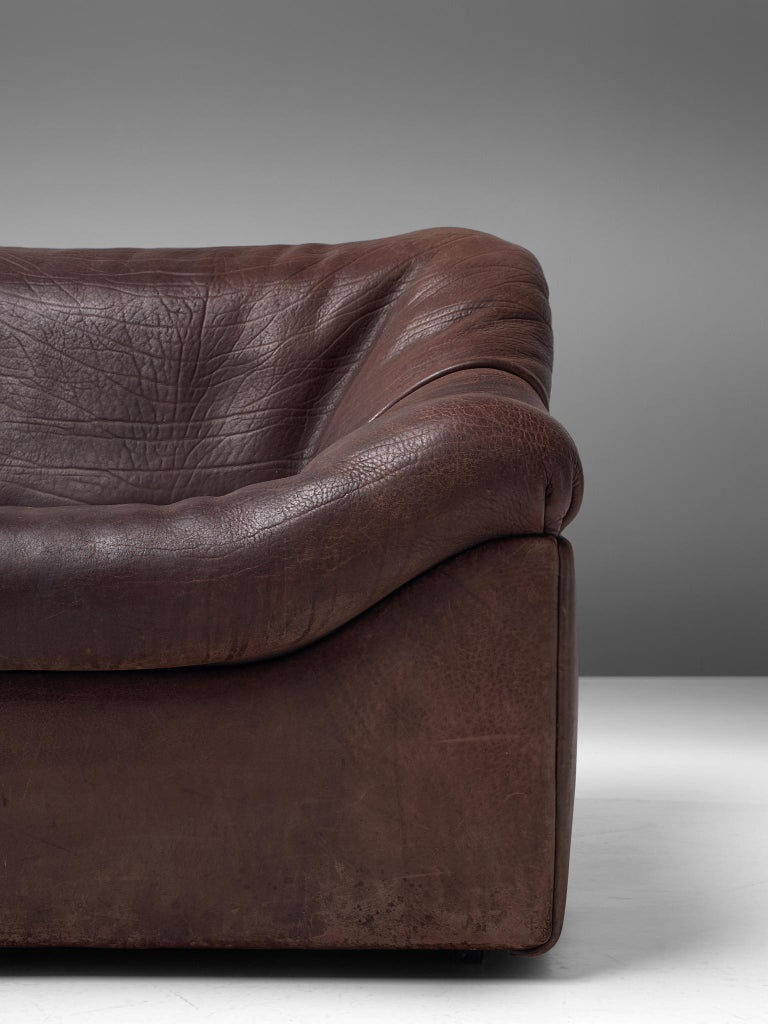 Late 20th Century De Sede DS46 Modular Sofa in Brown Leather