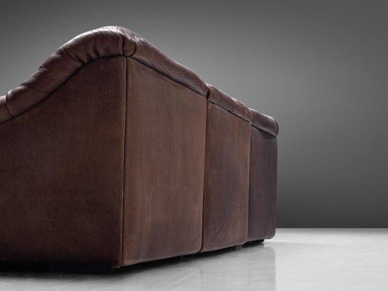 De Sede DS46 Modular Sofa in Brown Leather 1