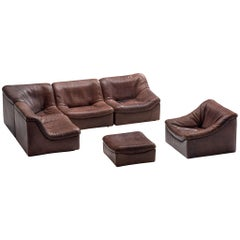 De Sede DS46 Modular Sofa in Brown Leather