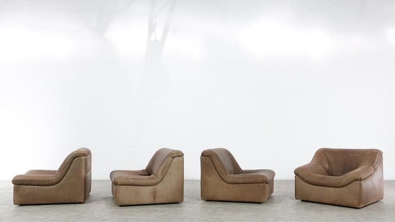 De Sede DS46 Sectional Sofa in Cognac Buffalo Leather 5
