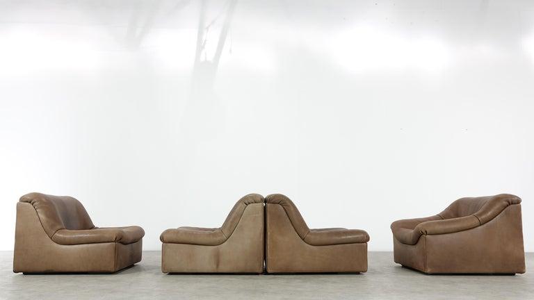 De Sede DS46 Sectional Sofa in Cognac Buffalo Leather 7