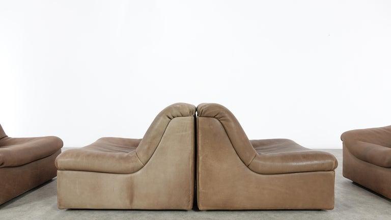 De Sede DS46 Sectional Sofa in Cognac Buffalo Leather 2