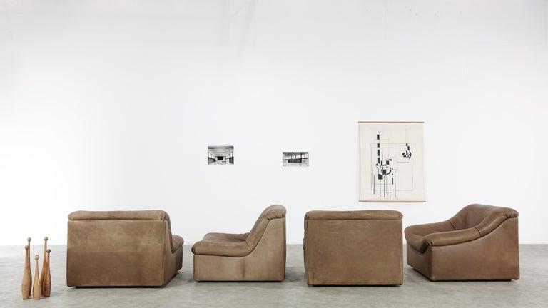 De Sede DS46 Sectional Sofa in Cognac Buffalo Leather 3