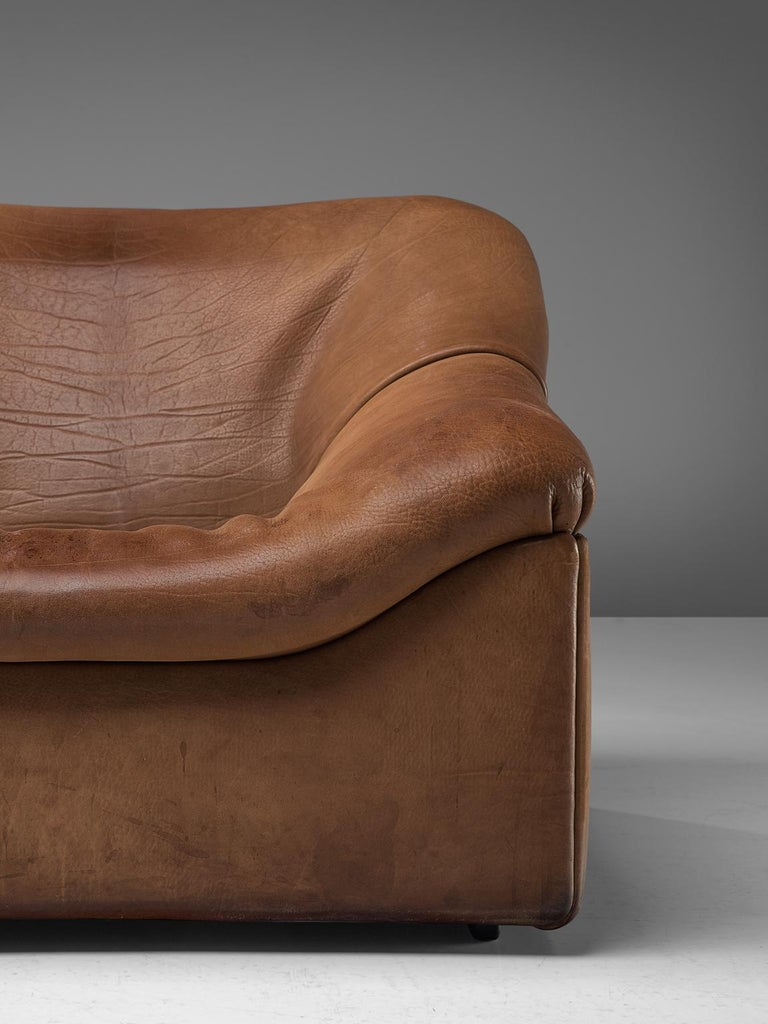De Sede Ds46 Sectional Sofa With Ottoman In Cognac Buffalo Leather For Sale At 1stdibs