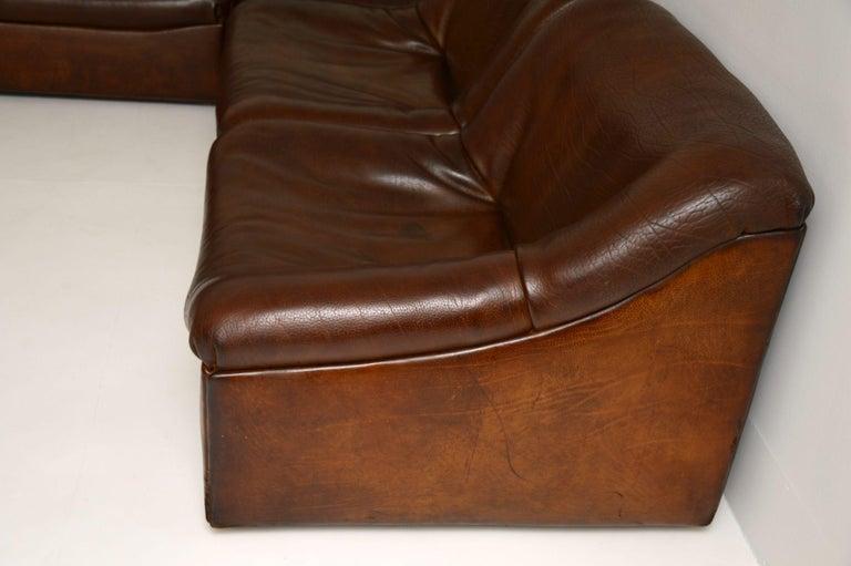 De Sede DS46 Vintage Leather Sectional Corner Sofa For Sale 4