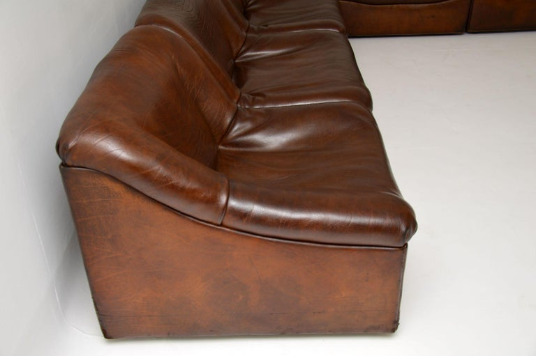 De Sede DS46 Vintage Leather Sectional Corner Sofa For Sale 5
