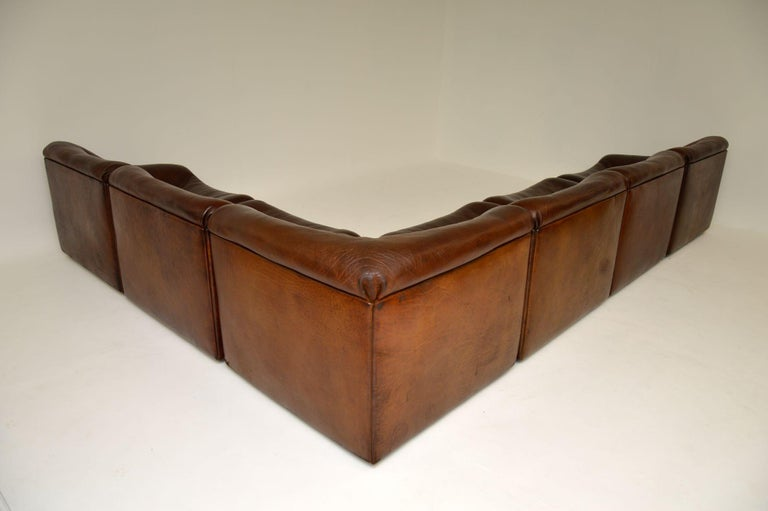 De Sede DS46 Vintage Leather Sectional Corner Sofa For Sale 6