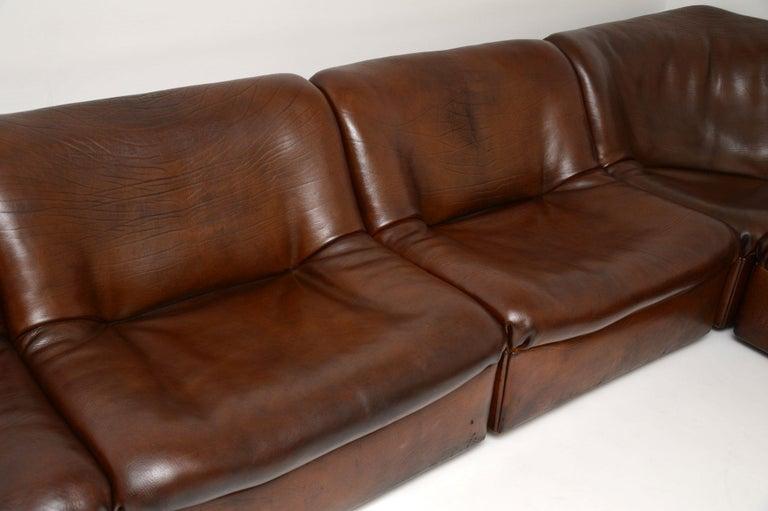 20th Century De Sede DS46 Vintage Leather Sectional Corner Sofa For Sale