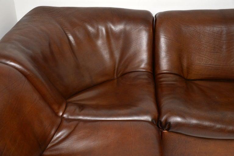 De Sede DS46 Vintage Leather Sectional Corner Sofa For Sale 1
