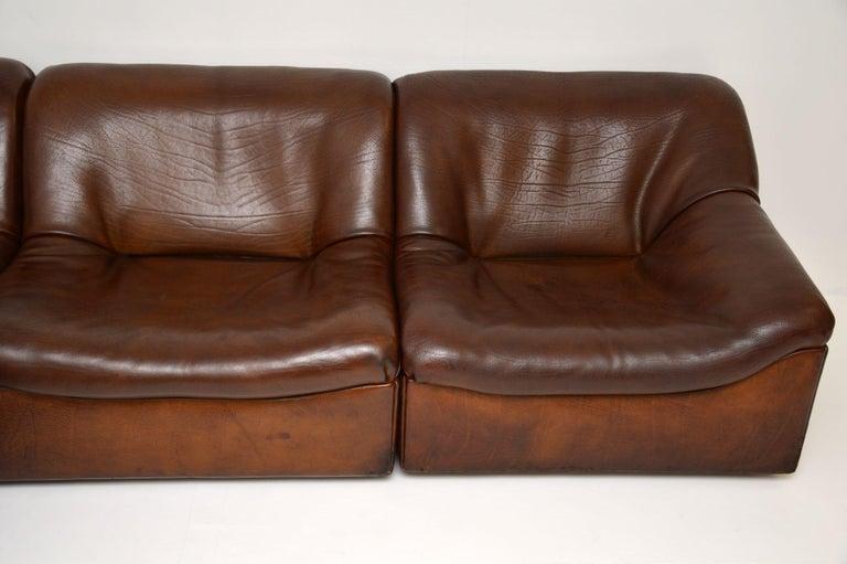 De Sede DS46 Vintage Leather Sectional Corner Sofa For Sale 2