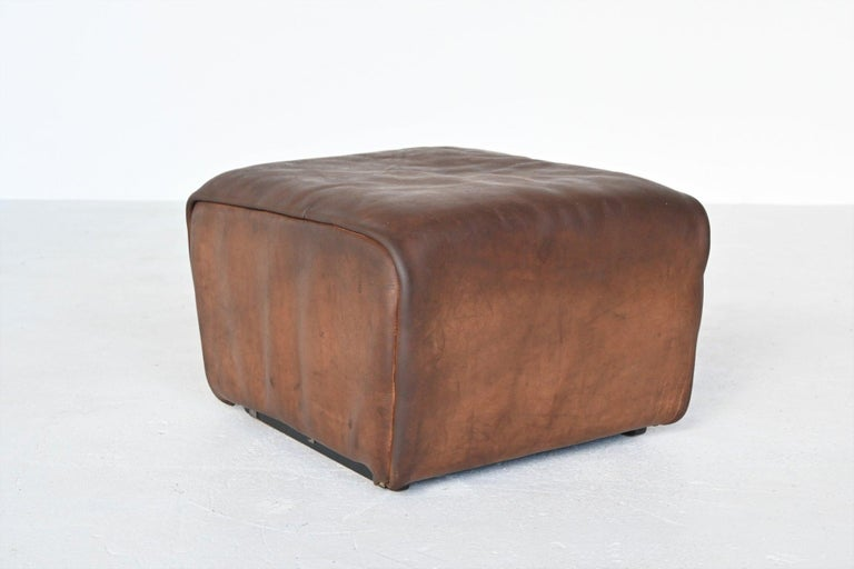 De Sede DS47 Armchair with Ottoman Brown Buffalo Leather, Switzerland, 1970 For Sale 4