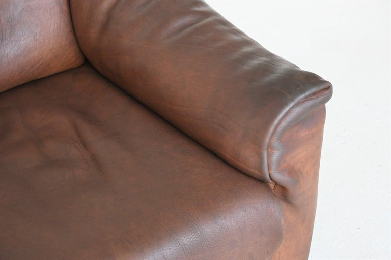 De Sede DS47 Armchair with Ottoman Brown Buffalo Leather, Switzerland, 1970 For Sale 3