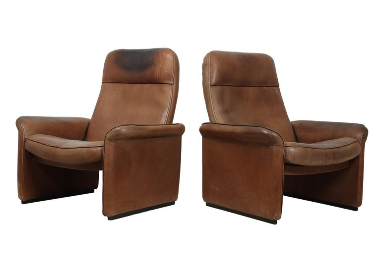 Mid-Century Modern De sede DS50 in Tan Neck Leather, circa 1960 For Sale