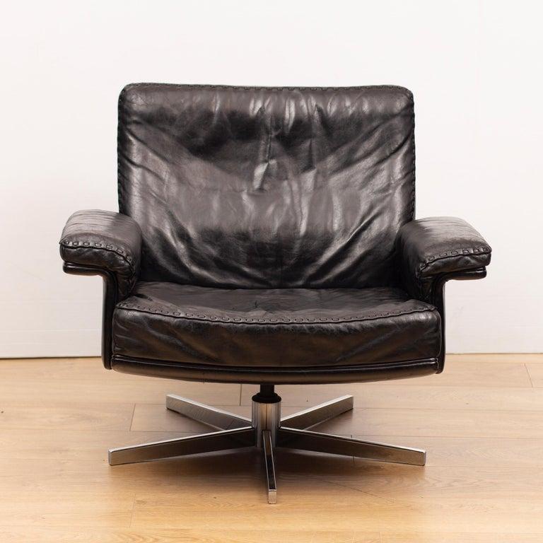 De Sede DS53 leather swivel chair.