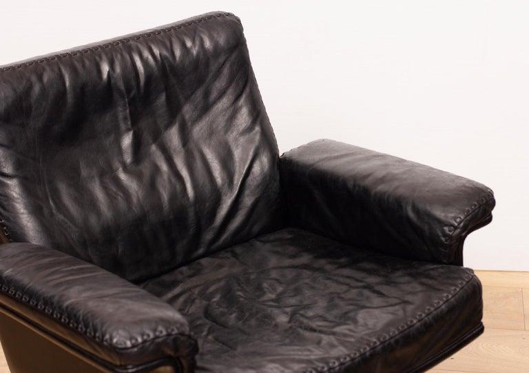 Swiss De Sede DS53 Leather Swivel Chair For Sale