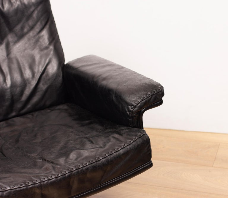 20th Century De Sede DS53 Leather Swivel Chair For Sale