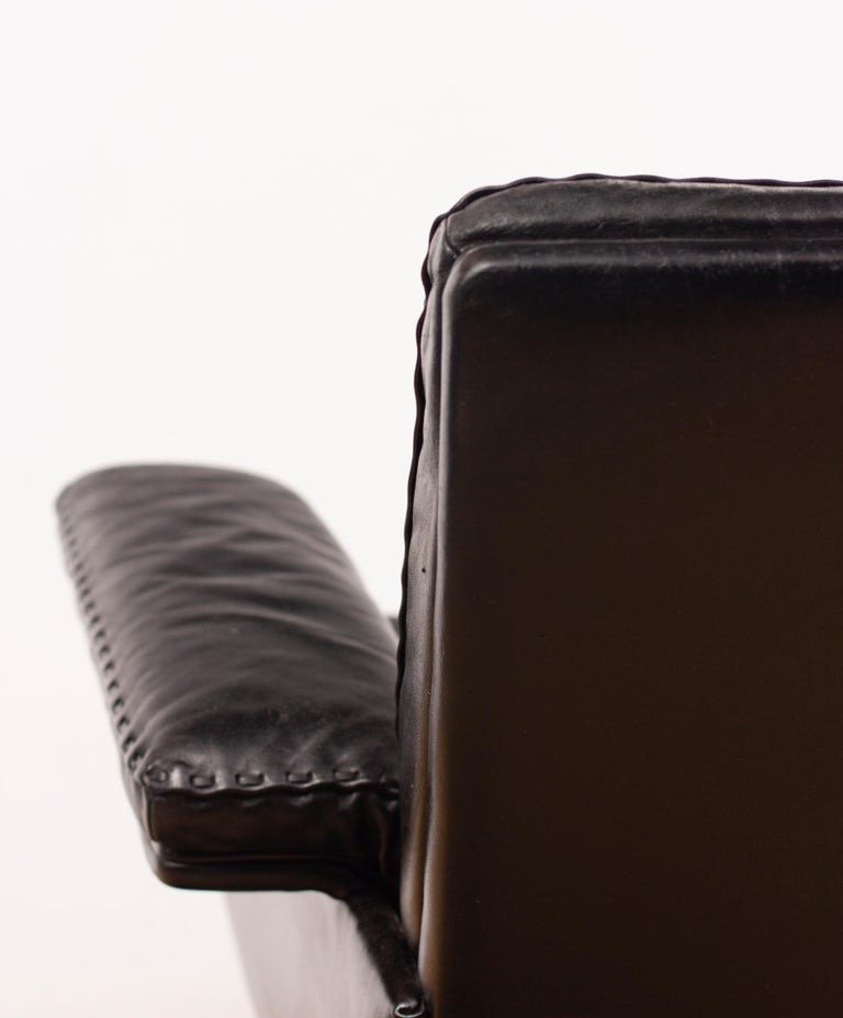 De Sede DS53 Leather Swivel Chair For Sale 3