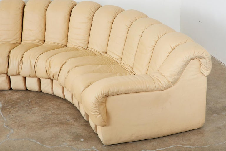 De Sede DS600 24 Piece Non-Stop Leather Sectional Snake Sofa For Sale 1