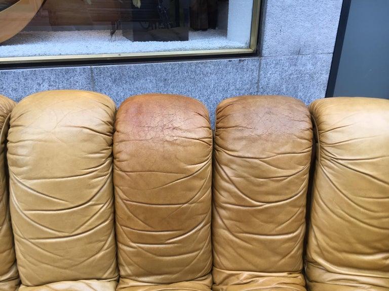 De Sede DS600 Cognac Leather Non Stop Sofa For Sale 3