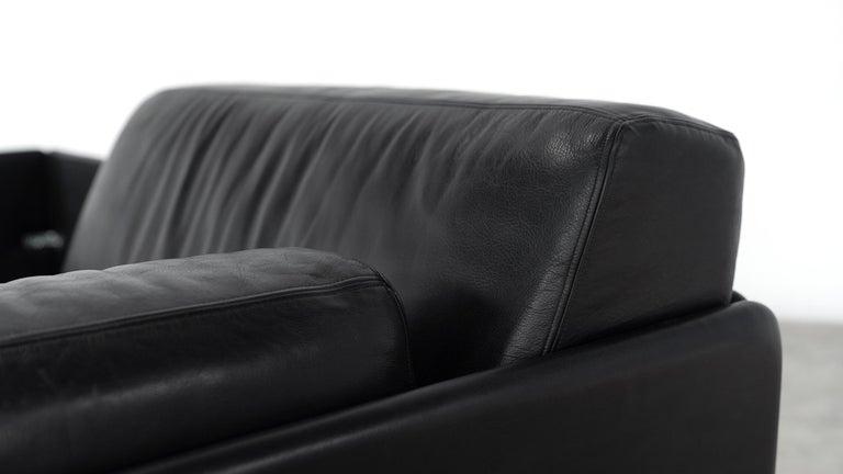 De Sede Ds76, Sofa & Daybed in Black Leather, 1972 by De Sede Design Team 12