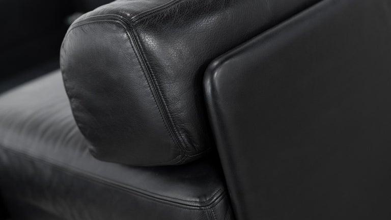 De Sede Ds76, Sofa & Daybed in Black Leather, 1972 by De Sede Design Team 13
