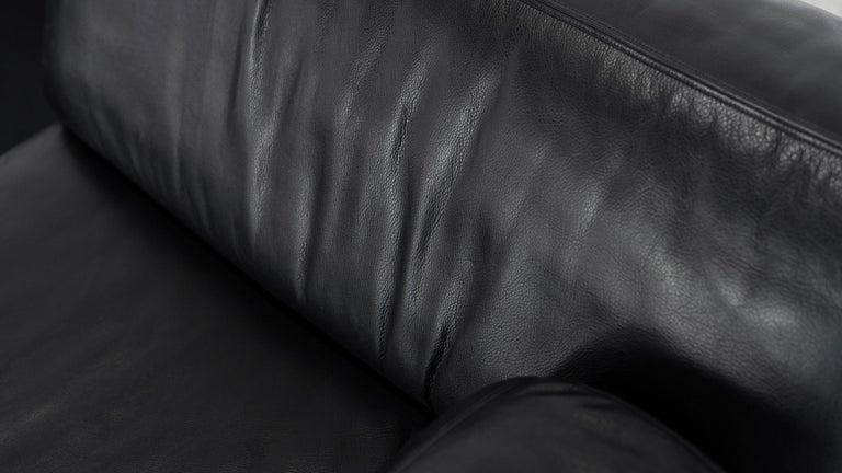 De Sede Ds76, Sofa & Daybed in Black Leather, 1972 by De Sede Design Team 14