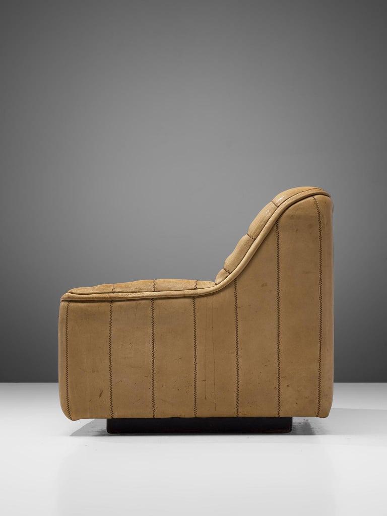 De Sede 'DS84' Settee in Naturel Buffalo Leather In Good Condition In Waalwijk, NL