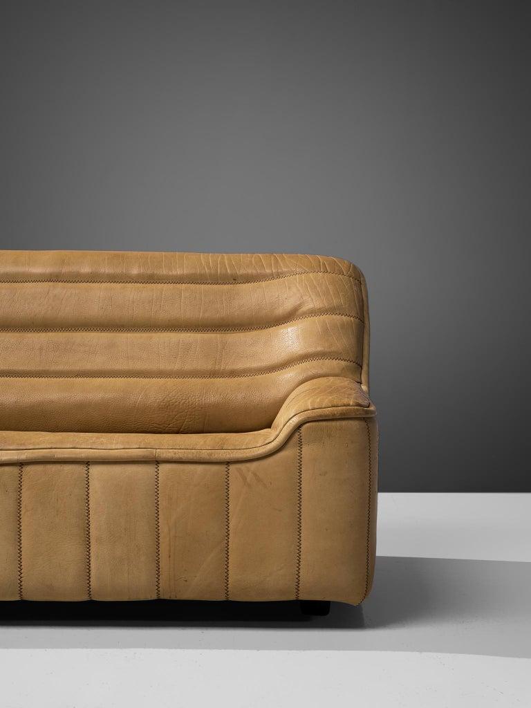 Late 20th Century De Sede 'DS84' Settee in Naturel Buffalo Leather