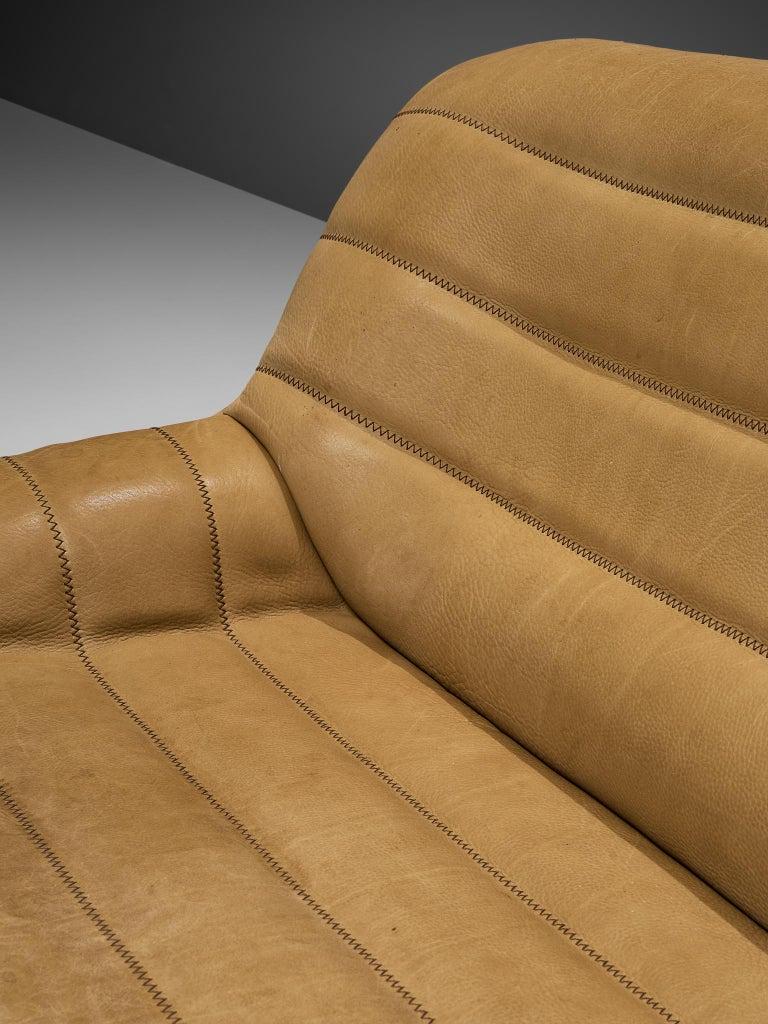 De Sede 'DS84' Settee in Naturel Buffalo Leather 1