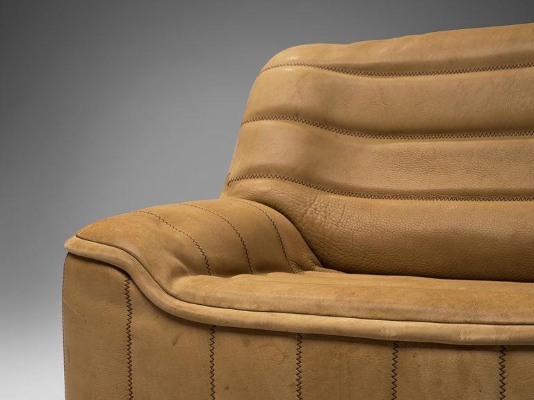 De Sede 'DS84' Settee in Naturel Buffalo Leather 3