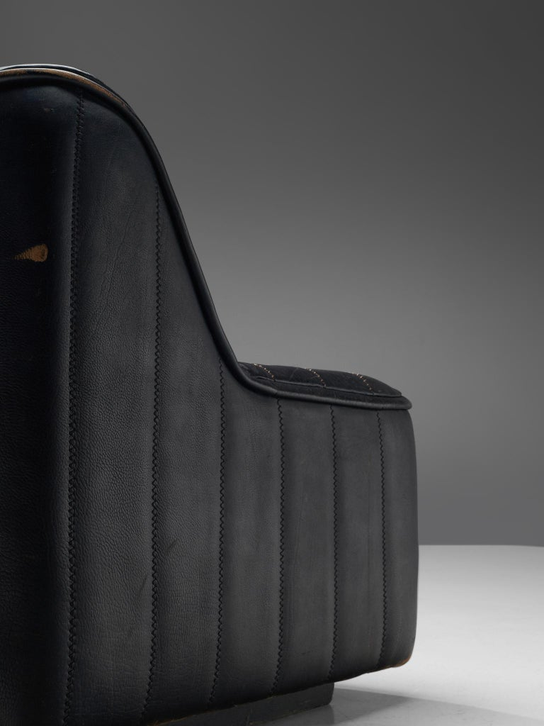 De Sede 'DS84' Sofa in Black Leather 4