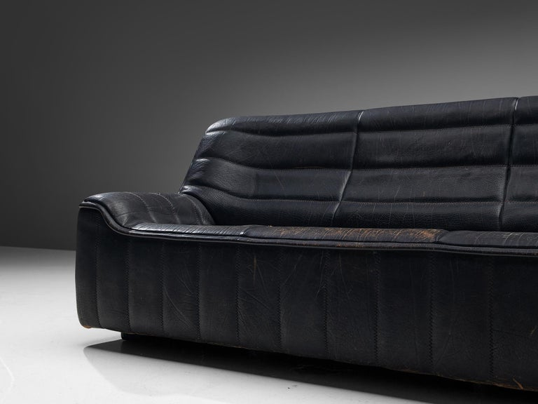 De Sede 'DS84' Sofa in Black Leather 1