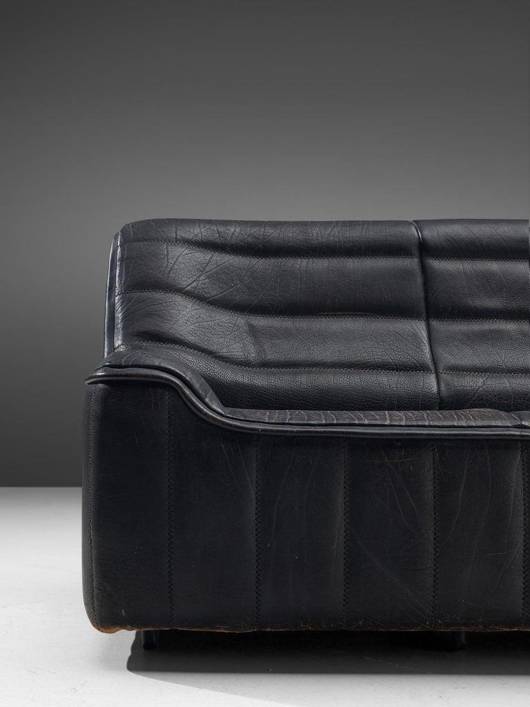 De Sede 'DS84' Sofa in Black Leather 2