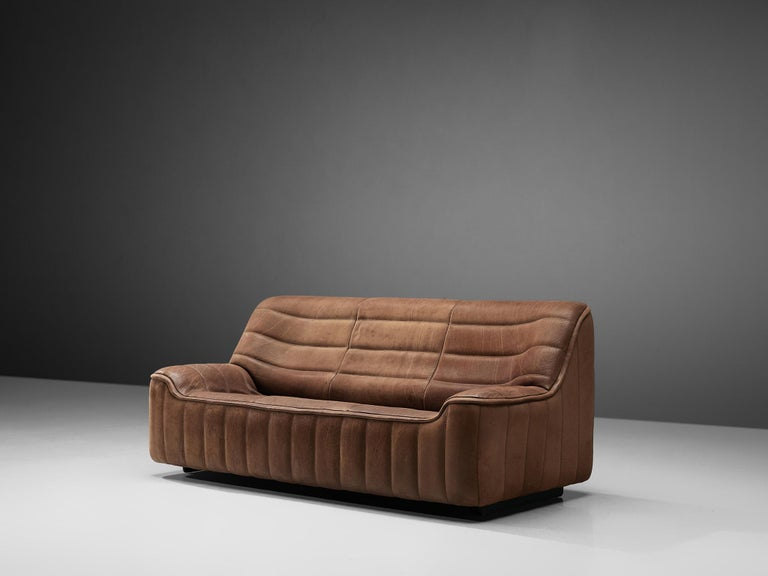 Mid-Century Modern De Sede 'DS84' Sofa in Brown Leather
