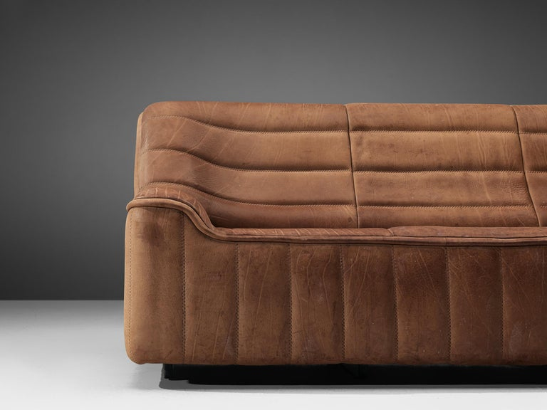 Late 20th Century De Sede 'DS84' Sofa in Brown Leather