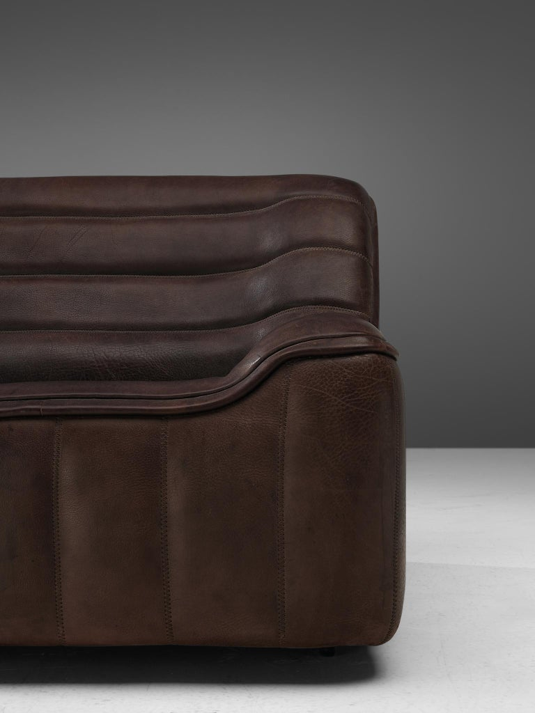 De Sede 'DS84' Sofa in Brown Leather For Sale 1