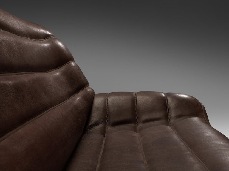 De Sede 'DS84' Sofa in Brown Leather For Sale 2