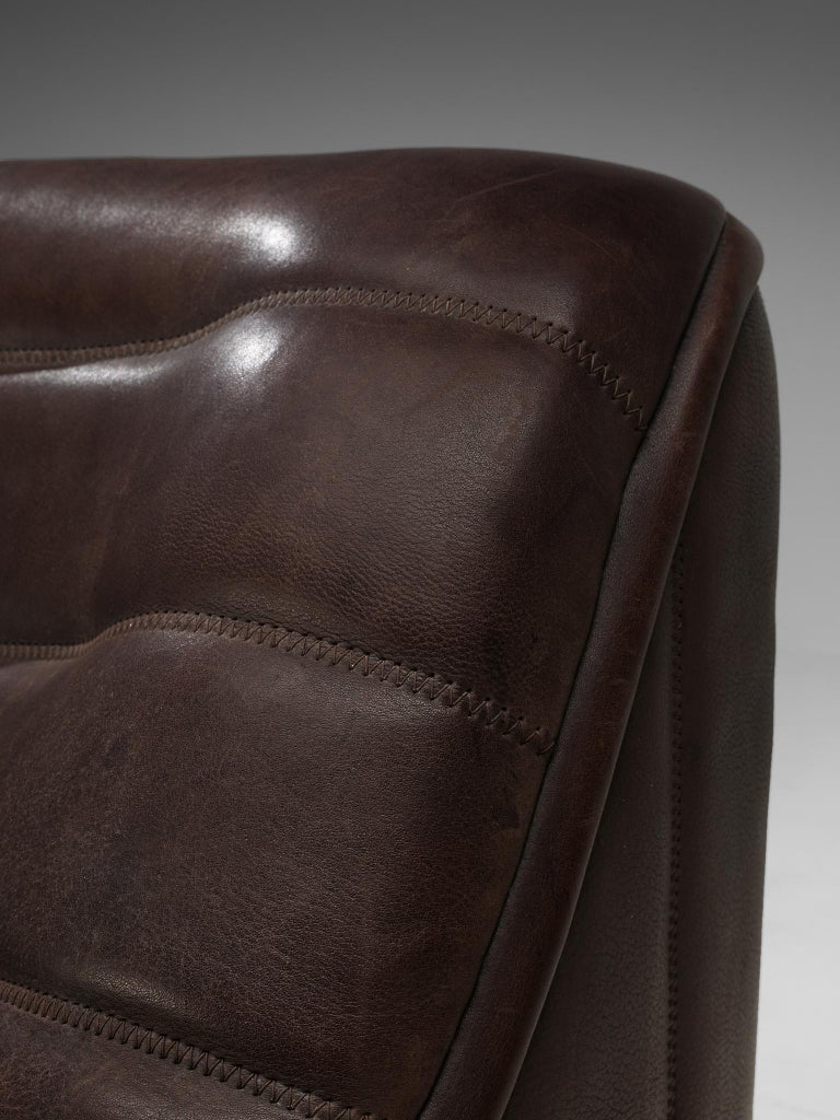 De Sede 'DS84' Sofa in Brown Leather For Sale 3