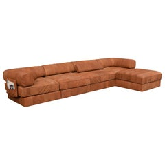 De Sede DS88 Patchwork Sofa in New Upholstered Tan Leather, Switzerland
