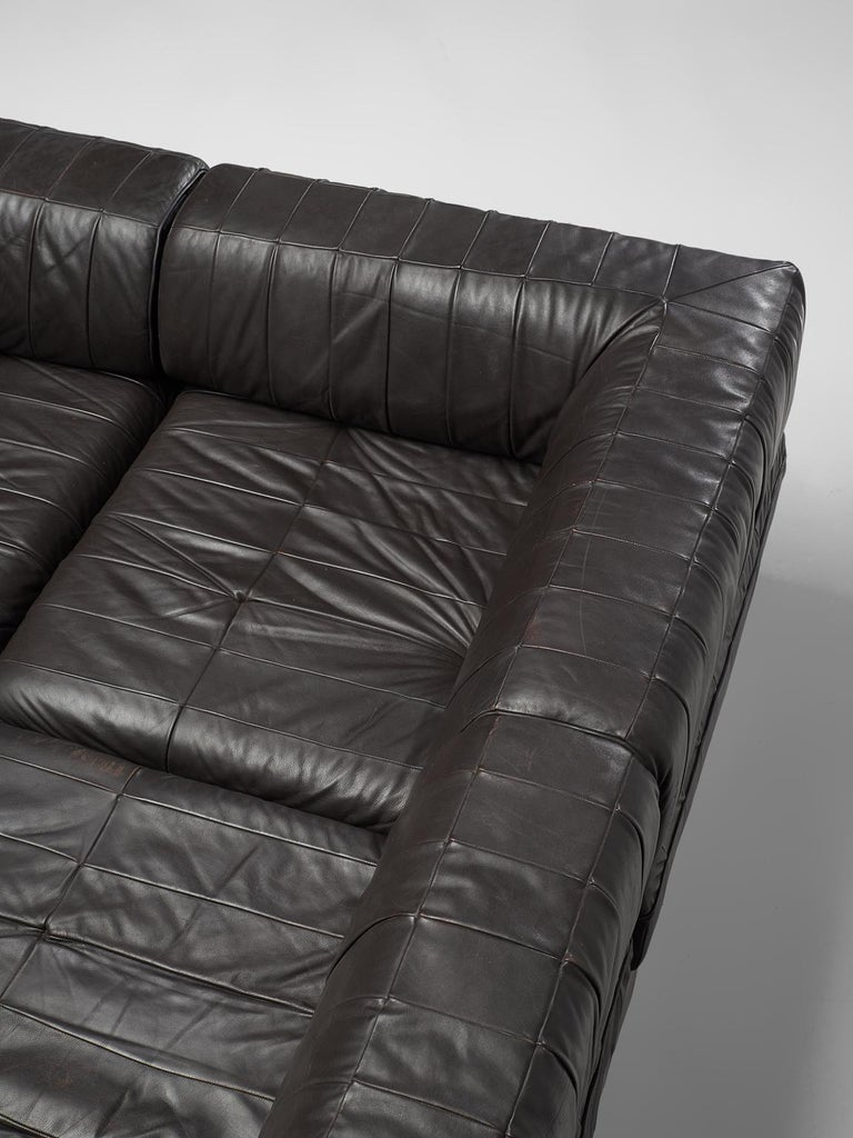 De Sede 'DS88' Sectional Sofa in Dark Brown Leather For Sale 5