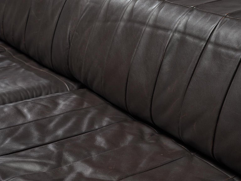 De Sede 'DS88' Sectional Sofa in Dark Brown Leather For Sale 6