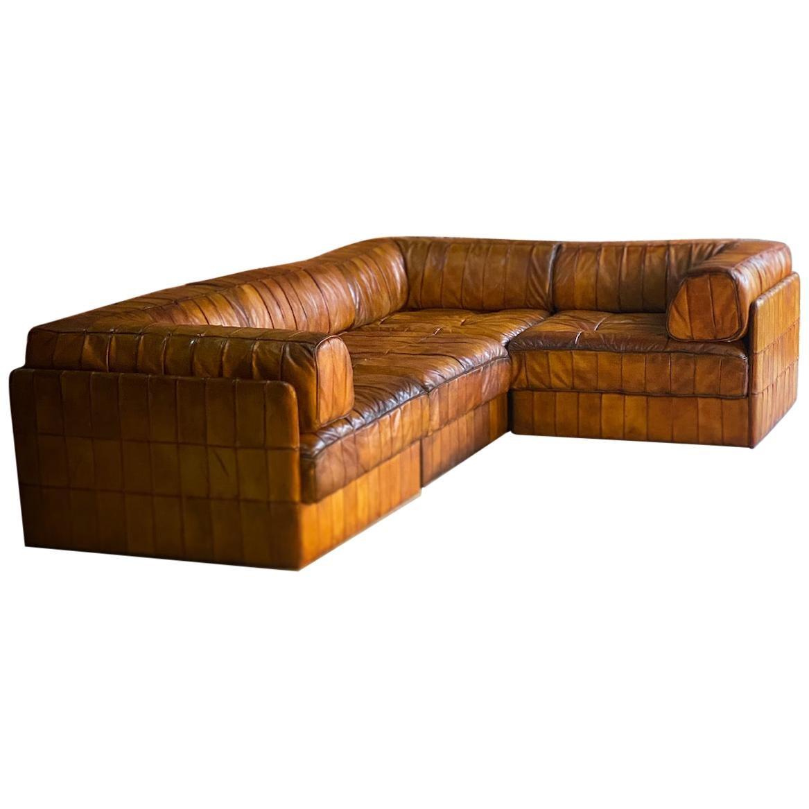 De Sede DS88 Sectional Sofa Leather, 1970
