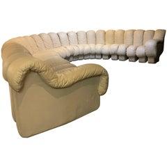 De Sede Full Cream Leather 'Non Stop' DS 600 Sofa, Switzerland, 1980s